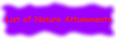 Nature Attunements